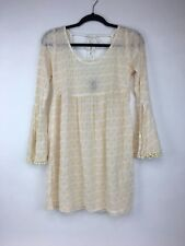 Juniors Lucy Love Runaway Weekend Dress Ivory Size Small