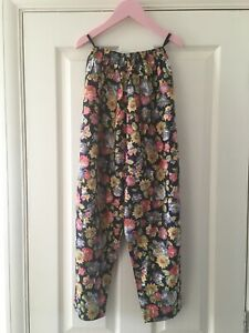 Laura Ashley Vintage Mother And Child Floral Cotton Trousers Age 9 Beautiful
