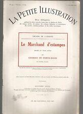 LA PETITE ILLUSTRATION N°264 - LE MARCHAND D'ESTAMPES PAR GEORGES DE PORTO-RICHE