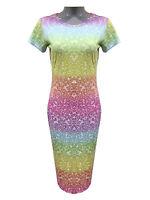 New Women's Paisley Flower Velvet Cap Long Sleeve Bodycon Mini Midi Swing Dress