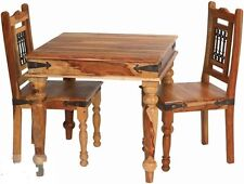 Brand New Jali- Indian Solid Sheesham Wood- DINING TABLE AND 2 CHAIRS