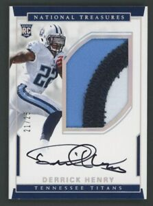 2016 National Treasures Derrick Henry RPA RC Rookie 3-Color Patch AUTO 21/25