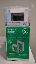 Fiberon Homeselect 2-Pair White Sentry Stair Brackets # 435551 Composite Railing