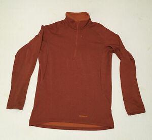 Patagonia Men's 1/2 Zip Capilene 2 Base Layer Pullover Shirt Top Medium Orange