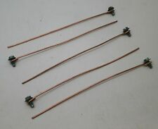 """(50) 6""""-Inch 14AWG Bare Solid Copper Grounding Pigtails w/#10-32 Screw"""