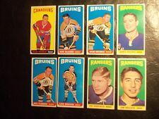 1964/65  topps hockey card lot 8 commons
