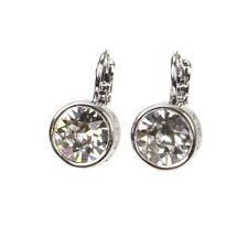 Dyrberg Kern Louise Swarovski Crystal French Hook Silver Plated Earrings