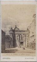 Château Da La Roche-Guyon Francia CDV Di Dopo Incisione Albumina Ca 1860
