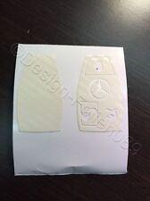 Carbon Weiß Folie Dekor Schlüssel Mercedes C E  AMG Brabus W204 CLK W209  W R