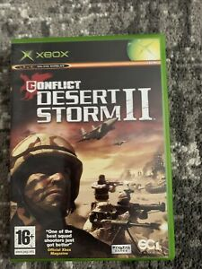 Conflict Desert Storm II 2 (Microsoft Xbox) Game with Manual and Case