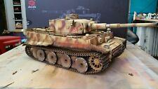 heng long 1/16 tiger 1 rc model tank custom airbrush  camouflage