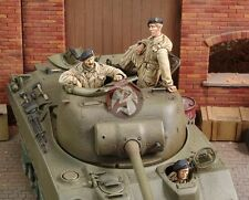 Royal Model 1/35 British Sherman Firefly Tank Crew WWII (3 Figures) [Resin] 514