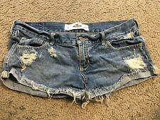 HOLLISTER Distressed Cut Off Bootie Booty Denim Jean Shorts womens 5