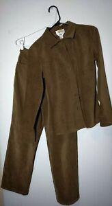 Talbots Suit Blouse and Pants Faux Suede Die Cut Beautiful Separates Petite S 4