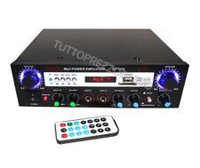 Amplificatore steteo bluetooth hi-fi audio karaoke mp3 radio fm usb aux 2 ch mic