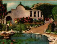 c1950's Vintage Postcard Mission San Juan Capistrano, California A28