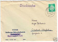 Drucksache, Mi.-Nr. DDR Dienst 18, Stollberger Nährmittel, o Hormersdorf, 1956