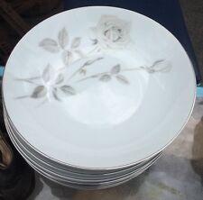 """Noritake Melrose Platinum Trim #6002 Bowls 7.5"""" Sold Each"""