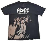 AC/DC Highway To Hell Tee Black Size Large Mens T Shirt Rock Ware Ac Dc