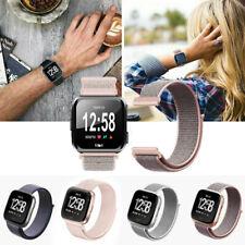 Soft Woven Nylon Smart Watch Wrist Band Strap Loop Wristband For Fitbit Versa