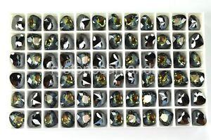 6 Swarovski 11x10mm Tabac Color Fancy Pear Rhinestones #4370 -V3737