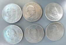 Lot of (6) 1965 Great Britain Uk Winston Churchill 1 Crown Commemorative Coins
