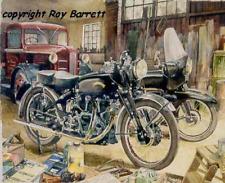 HRD Vincent Black Shadow & Knight 'Black Magic' limited print by Roy Barrett