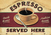 Espresso Served Here Blechschild Schild gewölbt Metal Tin Sign 20 x 30 cm
