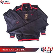 Men's Nike Tracksuit Navy Blue Jacket & Pants Zipper Sports Track Suit Brand New