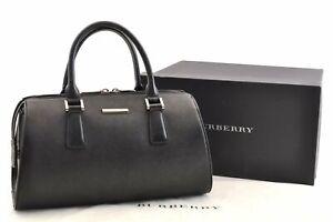 Authentic BURBERRY PVC Shoulder Hand Bag Black Box 0290A