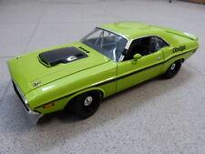 DODGE CHALLENGER R/T 1970 Verde bilioso Negro Limitado ACME Coche Modelo 1:18