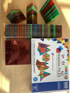 Magna Tiles 100 Pieces Clean Color. Used In Perfect Conditions.