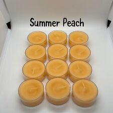 1 Dozen Summer Peach Partylite Nib Tealights - Retired
