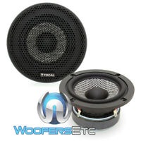 "FOCAL 3AS 3"" 40W RMS FIBER GLASS CONE MIDRANGE CAR AUDIO SPEAKERS & GRILLS NEW"