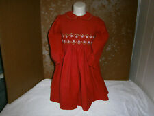 Toddler Carriage Boutiques Red Smocked Christmas Dress, 2T