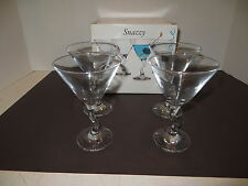 Martini Glass Set of 4  Snazzy By Circleware USA 10 oz. Barware