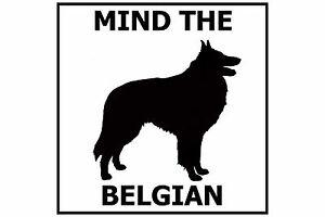 Mind the Belgian - Gate/Door Ceramic Tile Sign