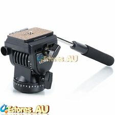 【AU】YUNTENG YT-950 Fluid Drag Head + QR Plate For Camera Studio Video Tripod