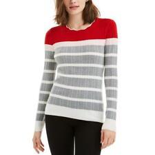 Maison Jules Womens Colorblock Crewneck Shirt Pullover Sweater Top BHFO 1441