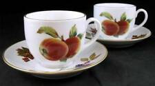 Royal Worcester EVESHAM GOLD 2 Cup & Saucer Sets GREAT CONDITION