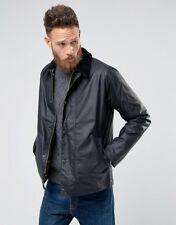 BNWT Mens Barbour Heskin Wax Jacket in Navy - Size L
