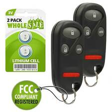 2 Replacement For 98 99 00 01 02 1998 1999 2000 2001 2002 Honda Accord Key Fob