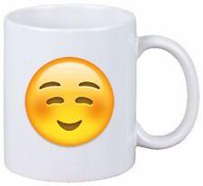 """Tasse Smiley """"(Weißes) lächelndes Gesicht"""" Emoji, Oster Geschenk 9025"""