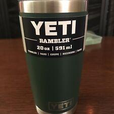 Yeti Rambler 20oz Tumbler With Mag slide Lid Vacuum Insulated Northwoods Green
