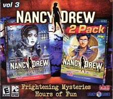 Nancy Drew GHOST OF THORNTON HALL + THE SHATTERED MEDALLION PC Game 2 PACK NEW