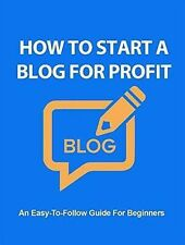 How To Start A Blog For Profit Ebook pdf Master Resell Rights