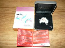 Very Rare 2010 World Expo Shanghai Silver 1oz Coin -map Shape of Australia