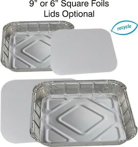 Square Foil Baking Trays Pie Dishes Tray Bake Casserole Food Containers