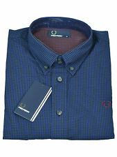 Fred Perry Button-Down Langarmhemd M9528 126 Navy / Schwarz #5812