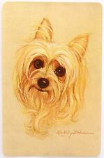 VINTAGE SWAP CARD. SMALL TERRIER DOG / PUP. ARTIST ROBERT FORBES. c1970s